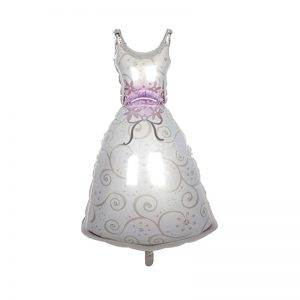 بادکنک فویلی لباس عروس
