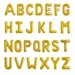 بادکنک فویلی حروف طلایی