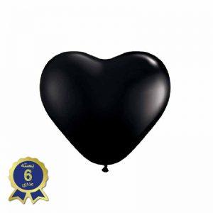 بادکنک لاتکس قلبی سیاه