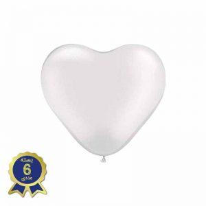 بادکنک لاتکس قلبی سفید