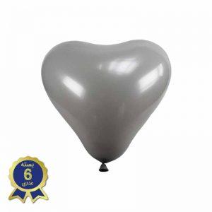 بادکنک لاتکس قلبی نقره ای
