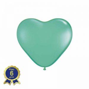 بادکنک لاتکس قلبی سبز آبی