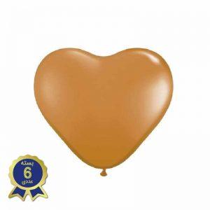 بادکنک لاتکس قلبی طلایی