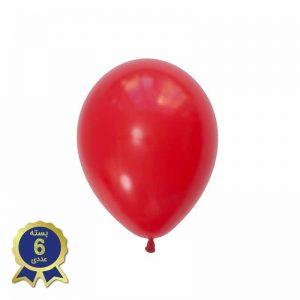 بادکنک لاتکس ساده متالیک قرمز