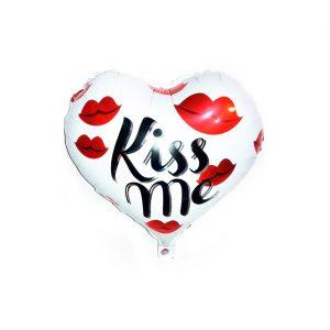 بادکنک فویلی قلبی kiss me