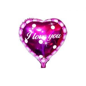 بادکنک فویلی قلبی I Love you
