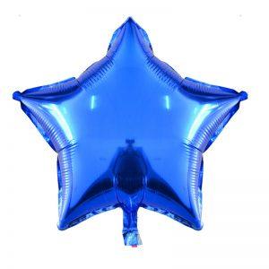 بادکنک فویلی ستاره براق آبی