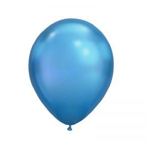 بادکنک کروم آبی همراه با گاز هلیوم