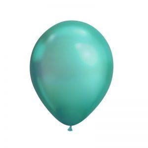 بادکنک کروم سبز همراه با گاز هلیوم