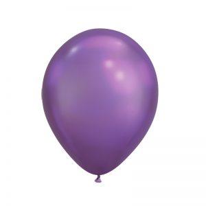 بادکنک کروم بنفش همراه با گاز هلیوم