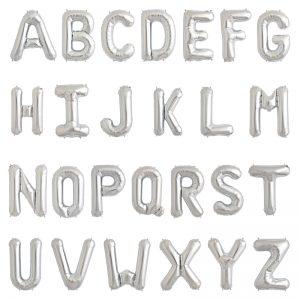 بادکنک فویلی حروف نقره ای