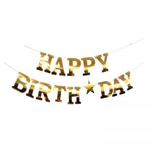 ریسه براق طلایی happy birth day