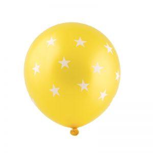 بادکنک لاتکس ستاره ای زرد