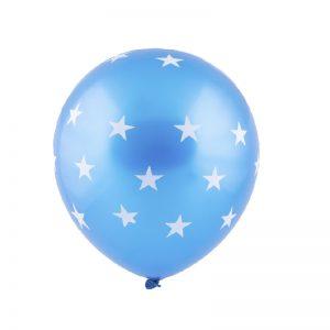 بادکنک لاتکس ستاره ای آبی پررنگ