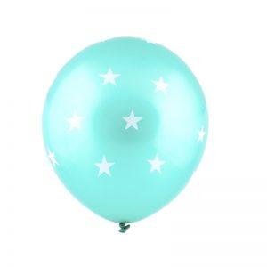 بادکنک لاتکس ستاره ای آبی