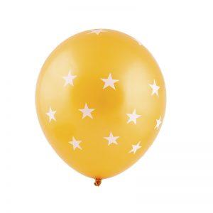 بادکنک لاتکس ستاره ای نارنجی
