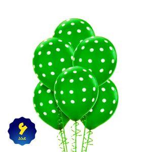 بادکنک لاتکس خالدار سبز