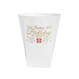 لیوان پلاستیکی سفید بسته 6 عددی