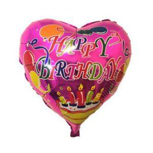 بادکنک فویلی قلبی تولدت مبارک