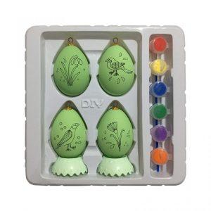 تخم مرغ رنگی طرح پرنده و گل