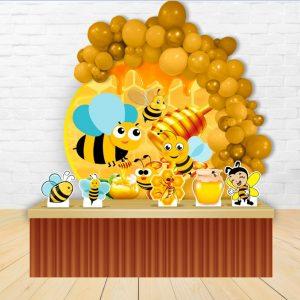 دکور تم تولد زنبور عسل سفارشی
