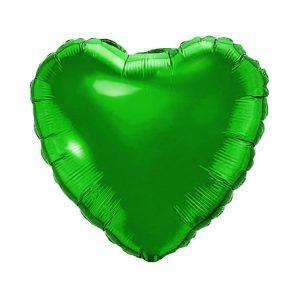 بادکنک فویلی قلبی سبز