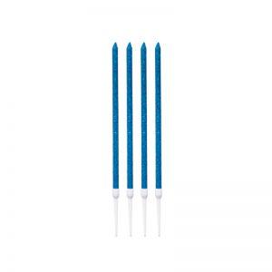 شمع تولد میله ای آبی بلند 4 عددی